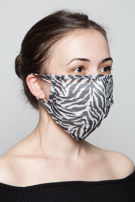 Fashion Mask - Zebra Desenli Maske