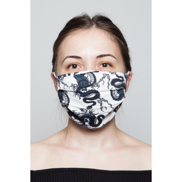 Fashion Mask - Dragon Desenli Maske
