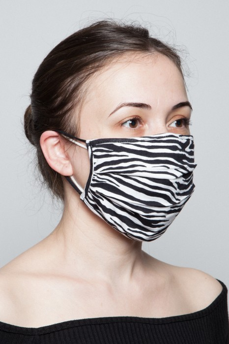 Fashion Mask - Zebra Desen Maske