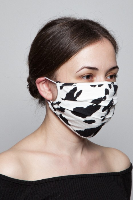 Fashion Mask - Cow Desenli Viskoz Maske